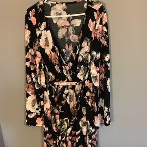 PinkBlush Plus Black Floral Hi-Lo Midi Dress 3x